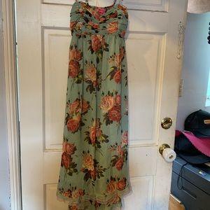 Betsey Johnson flower maxi dress